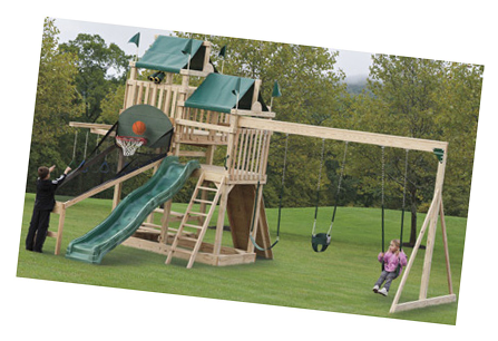 Rockland Woodworks Playgrounds, Swings, Parts, and Accessories