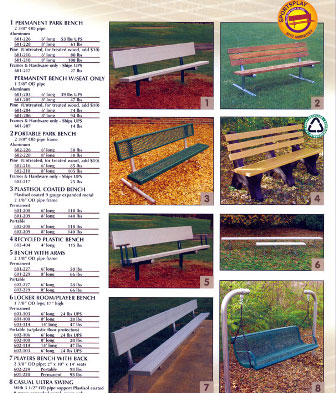 Commercial Park Benches Baltimore Maryland