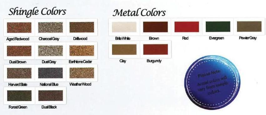 Shed Shingle Colors Maryland
